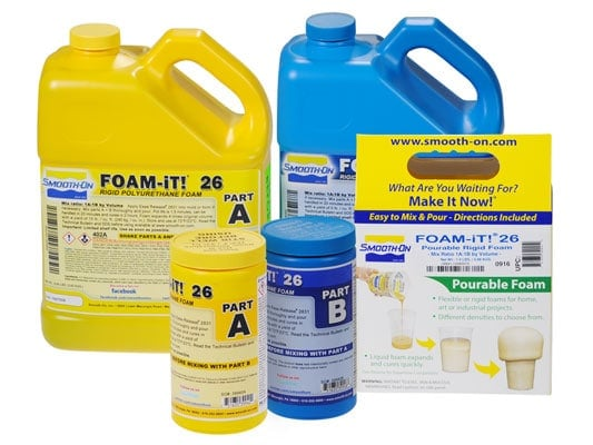 smooth-on foam-it 26 product bottle variety