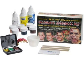 makeup tools and supplies needed for zombie makeup tutorial